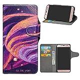 HHDY Samsung Galaxy J7 2017 Funda, Diseño PU Cuero Libro Soporte Plegable y Ranuras para Tarjetas Dibujos Caso Cover para Samsung Galaxy J7 2017 / J730 / J7 Pro / J7 Star,Brilliant Purple