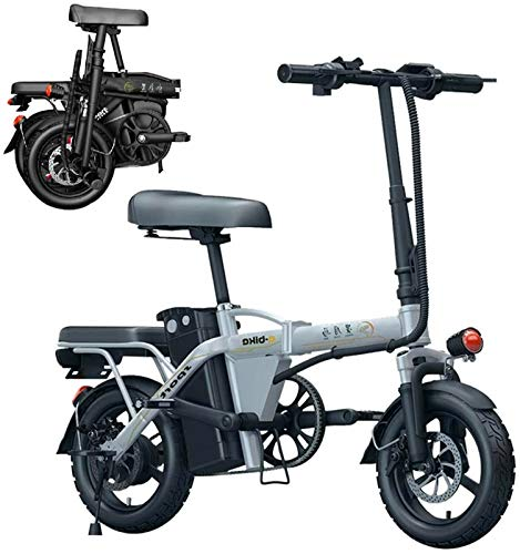 Bicicletas Eléctricas, Ligero 250W plegable eléctrico de pedaleo asistido E-Bici WithRemovable agua y al polvo 48V-36Ah 6Ah batería de litio, adecuado for los adultos, los viajeros, las ciudades. ,Bic