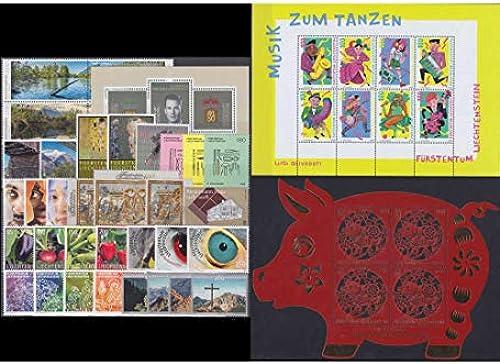 Goldhahn Liechtenstein 2018 postfrisch  Nr. 1886-1931 Block 30 Briefmarken für Sammler