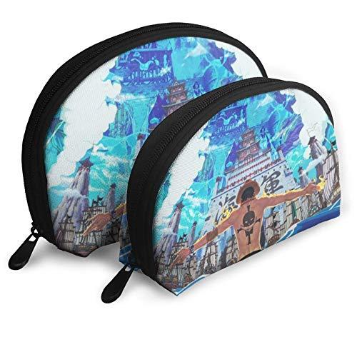 Anime Ace Cosmetic Bags Portable Bag Clutch Pouch Set Women Men Travel Purse with Zipper Handbag Organizer 2Pcs