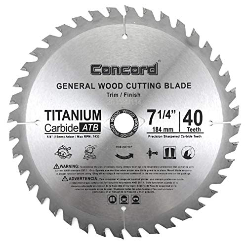 Concord Blades WCB0725T040HP Hard & Soft Wood Saw Blade