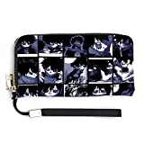 Anime My Hero Academia Collage - Dabi PU Leather Long Wallets, Zip Card Purse Clutch