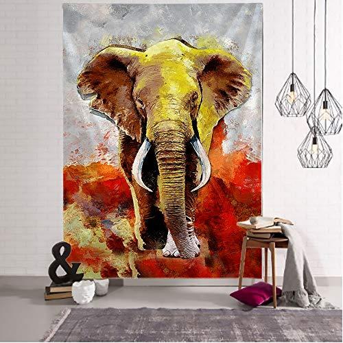 WERT Bohemia Mandala Elefante Tapiz Colgante de Pared Playa Manta de Picnic decoración del hogar Fondo Tapiz de Tela A3 130x150cm