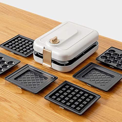 Fill profonda 3-in-1 spuntino produttore intercambiabili Waffle, tostato pannelli sandwich 600W, casa cialda belga, avviare il timer, bianco