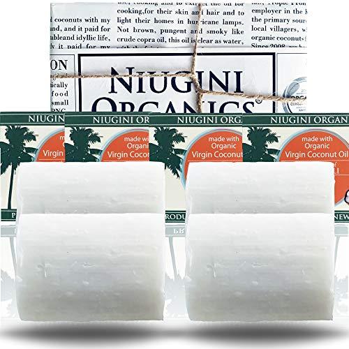 Die Reinste Kokosseife DER WELT Aus 100% Bio Kokosöl mit Patschuli | Vegane Naturseife | Fairtrade | Nachhaltige Produktion | Ohne Palmöl | Patschuli, 4 x 100g