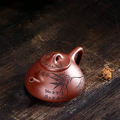 ADSE Tea Maker Pot Sub-Rule of Stone Scoop Teapot Purple Clay Teapot Travel Tea Masters Manual (Color : Purple mud, Size : One Size)