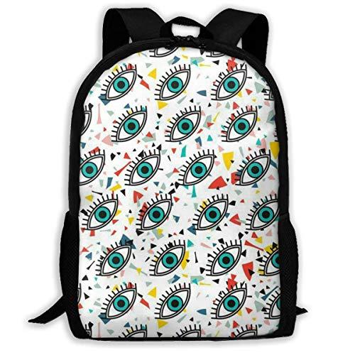 XCNGG Eyes Printed Travel Backpack,Waterproof Lightweight Laptopbag Have Two Side Pockets