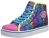 Heelys Veloz, Zapatillas Altas Mujer, Multicolor (Denim/Glitter/Rainbow Denim/Glitter/Rainbow), 36.5...