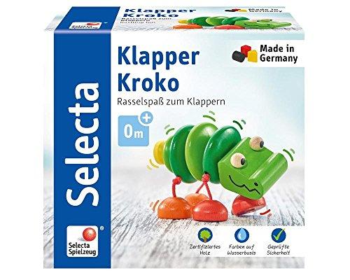 Selecta 61044 Klapper-Kroko, Greifspielzeug, 10 cm