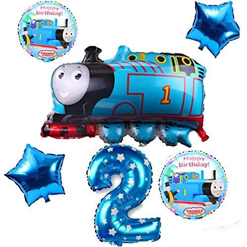 トーマス バルーン  トーマス エンジン 2歳 (star) お誕生日 バルーン 6点 セット トーマス & フレンズ キャラクター 風船 男の子 女の子 プレゼント