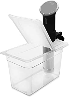 EVERIE Sous Vide Container 7 Quart with Collapsible Hinge Lid for Anova Bluetooth 800w or Wi-Fi 900w, Not for Nano
