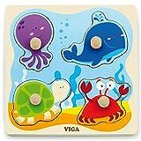 Eitech GmbH-50132 Viga Toys–Puzzle–Bajo el Agua Mundo, Multicolor 50132