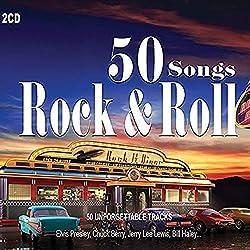 2 CD 50 Canzoni Rock and Roll. 50 Hits Originali di Chuck Berry, Elvis Presley, Jarry Lee Lewis, Fats Domino
