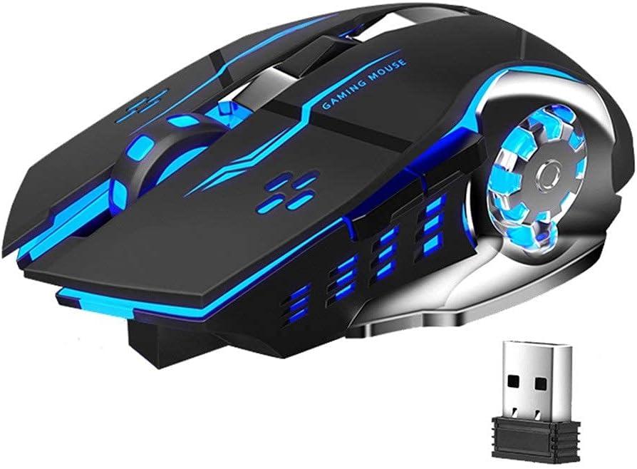 BAOZUPO Ratón inalámbrico SC100 Que Carga el Mouse para Juegos silencioso para computadora portátil Game PC