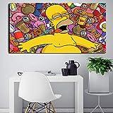 IHlXH Poster und Drucke Anime Die Simpsons Cartoon Leinwand