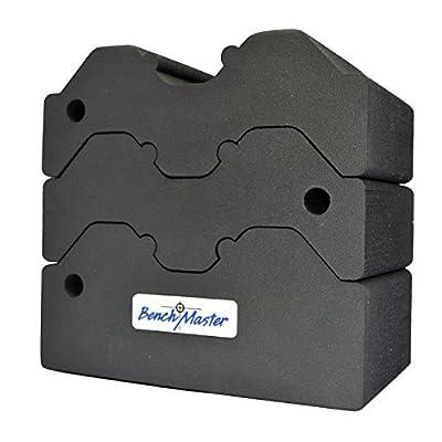 BenchMaster BMWRABB3 Weapon Rack Adjustable 3 Piece Bench Block, Grey