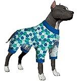 LovinPet Pijamas para Perros Grandes/Estampados Geométricos Abstractos Estilo/Pijama De Perro Doberman, Pijama Ligero para Perros, Pijama para Perros De Cobertura Total