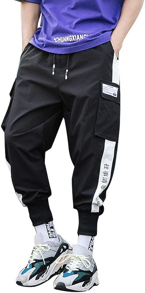 LEKODE Men Beam Feet Pants Hip Hop Slacks Overalls Loose Trousers