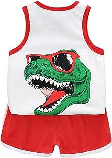 Fossen Ropa Bebe Niño Verano Camiseta sin Mangas a Rayas y