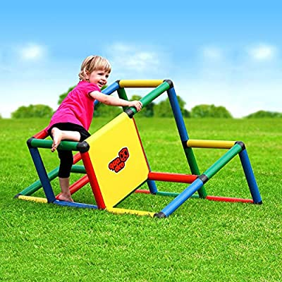 Quadro My First Rugged Indoor/Outdoor Climber, Tot/Toddler Jungle Gym, Expandable Modular Component Playset, Giant Construction KIt, Play Structure, Educational Toy for Kids Ages 1-6 Years.