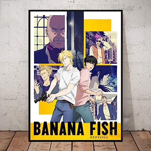 WDQFANGYI Banana Fish Anime Poster Dipinti su Tela Wall Art Prints Picture Soggiorno Camera da Letto Decorazione della Casa 40X50Cm 40 (FLL3335)