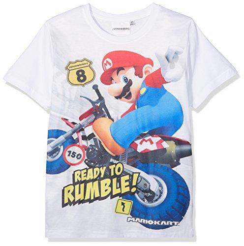 Mario Bros Mädchen 174099 T-Shirt, Weiß (Weiß Weiß), 4 Jahre