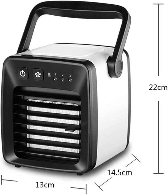 GJF USB New Refrigerator Mini Portable Fan Dormitory Student Bed Cold Fan Home Office Camping Trip-White 3 Speed Adjustable