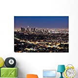 Wallmonkeys Downtown Los Angeles Wall Decal Peel and Stick Graphic WM215591 (48 in W x 32 in H)