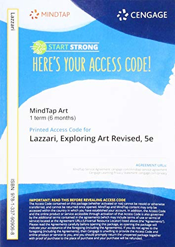 MindTap for Lazzari/Schlesier's Exploring Art: A Global, Thematic Approach, Revised, 1 term Printed Access Card -  Lazzari, Margaret, Revised Edition, Printed Access Code