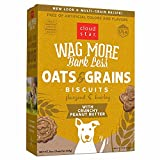 Cloud Star Wag More Bark Less Crunchy Dog Treats Baked in the USA, Oats & Grains, Crunchy Peanut Butter 16 oz. (Packaging May Vary)