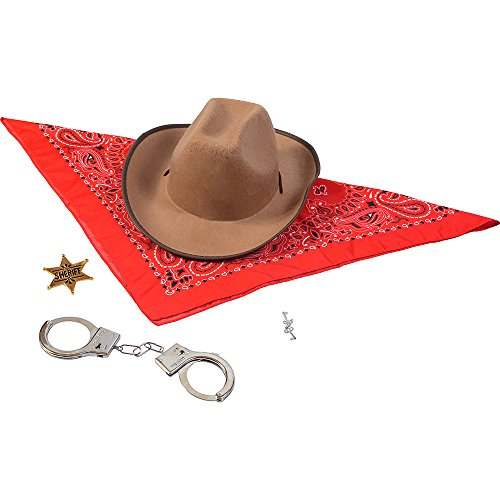 Funny Party Hats Sheriff Costume - Western Sheriffs Costume Accessories Set