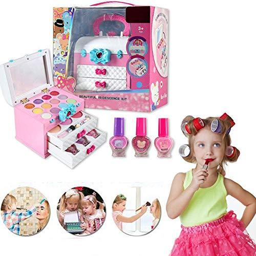 Kinder-Make-up-Set, 11-teilig - Princess Make Up Enthält 6-farbigen Lidschatten, 3-farbiges Rouge,...