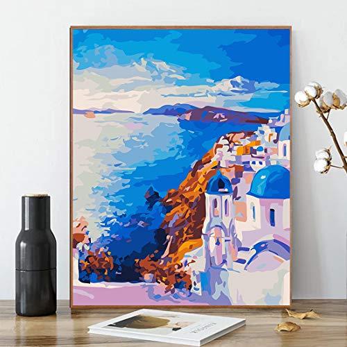 零基础绘画, Karyees圣托里尼岛数字油画
