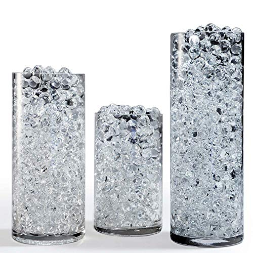 Upgraded 32 Ounce/2 Pound Value Pack of Clear Big Water Beads, 80,000 Vase Fillers Floral Beads Gel Water Bead, Make 32 Gallons or 120 Liter of Water Beads, Perfect for Large Parties