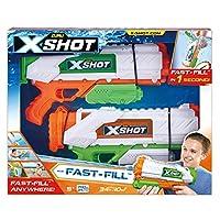 ZURU XSHOT 2丁セット【ハイパワー水鉄砲×2個】FAST-FILL 水鉄砲バトル 飛距離最大10m
