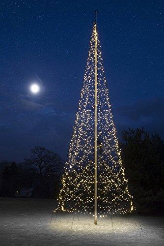 Fairybell - Albero di Natale a LED, 4000 luci, luce bianca calda, per asta da 10 m