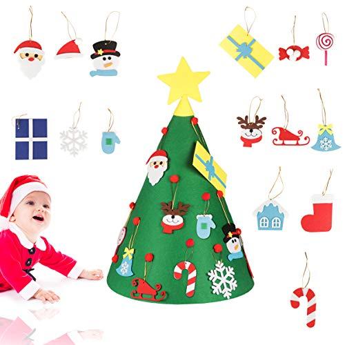 Jangostor 18PCS Filz Weihnachtsbaum 70CM DIY Weihnachtsbaum für Kinder Partyzubehör Weihnachtsdekoration Home Decorations
