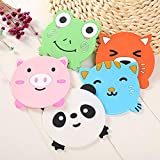 Joyfree 5PCS Silicone Rubber Coaster Colorful Animal Coaster Cup Mat for Drinks Durable Non-Slip Hot Pads Protection Furniture Damage for Home and Kitchen Use.