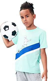 TaiMoon Boys' Graphic Cotton T-Shirt