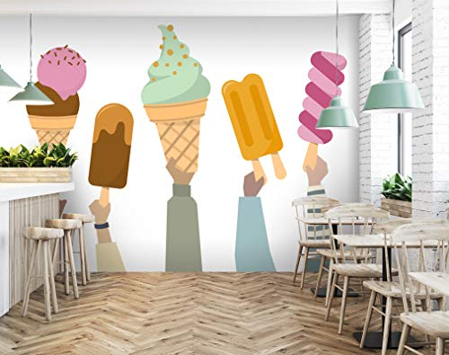 """3D Color Ice 250 Business Wall Paper Wall Print Decal Wall Deco Murals Removable Wall Mural   Selbstklebende große Tapete, AJ UK Angelia, Vinyl (kein Kleber und entfernbar), 【205""""x114""""】520x290cm(WxH)"""