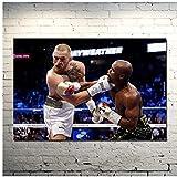 Floyd Mayweather vs Conor McGregor MMA UFC Fight Boxing Art Canvas Poster Regalos para padres y amigos Imprimir en lienzo -50x75cm Sin marco