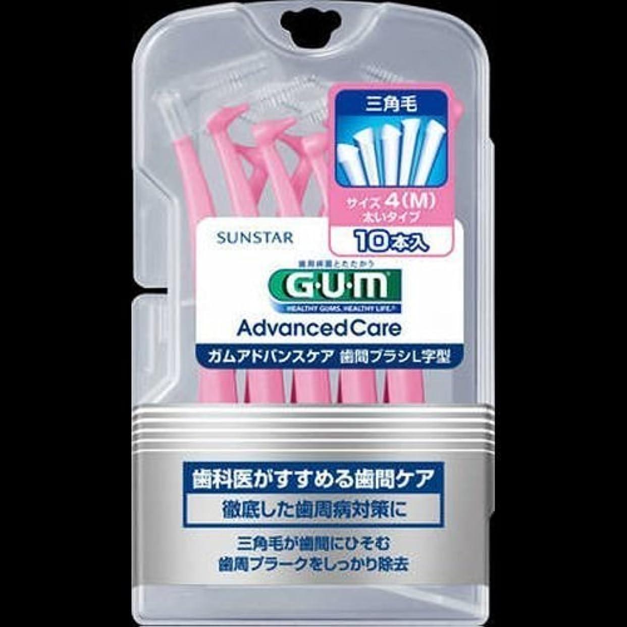 洗剤水平亡命【まとめ買い】GUM歯間ブラシL字型10P M ×2セット