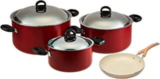 Prestige 6Pc Cooking Pot Set + FREE Meyer Frypan 24 cm, multicolor