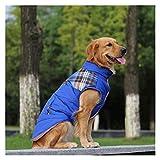 Blue Dog Ropa de otoño e Invierno Chaleco Acolchado Camisa de Perro Labrador de Oro Mediana Grande Animal doméstico del Perro de algodón Ropa (Color : Blue-28 Yards)