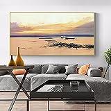 Carteles e impresiones, lienzo para sala de estar, pintura artística, paisaje, arte de pared, pasillo, cuadro decorativo, decoración realista del hogar 60x120 CM (sin marco)