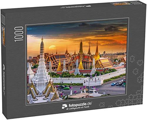 Puzzle 1000 Teile Großer Palast und Wat phra Keaw bei Sonnenuntergang Bangkok, Thailand - Klassische Puzzle mit edler Motiv-Schachtel, Fotopuzzle-Kollektion \'Thailand\'