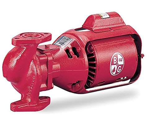 Bell & Gossett 1/6 HP Cast Iron 3-Piece Oil-Lubricated Booster Hot Water Circulator Pump - HV NFI