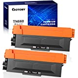 GOTOBY Compatible Toner Cartridge Replacement for Brother TN660 TN630 TN-660 TN-630 Work with HL-L2380DW HL-L2320D HL-L2300D HL-L2340DW MFC-L2700DW MFC-L2740DW Printer DCP-L2540DW (Black, 2 Pack)