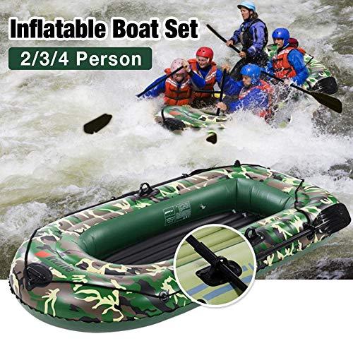 N/H 10Ft Schlauchboot, Schlauchboot für Erwachsene 4 Personen, Camouflage Touring Kayak mit Paddeln und Luftpumpe für Wassersportspaß