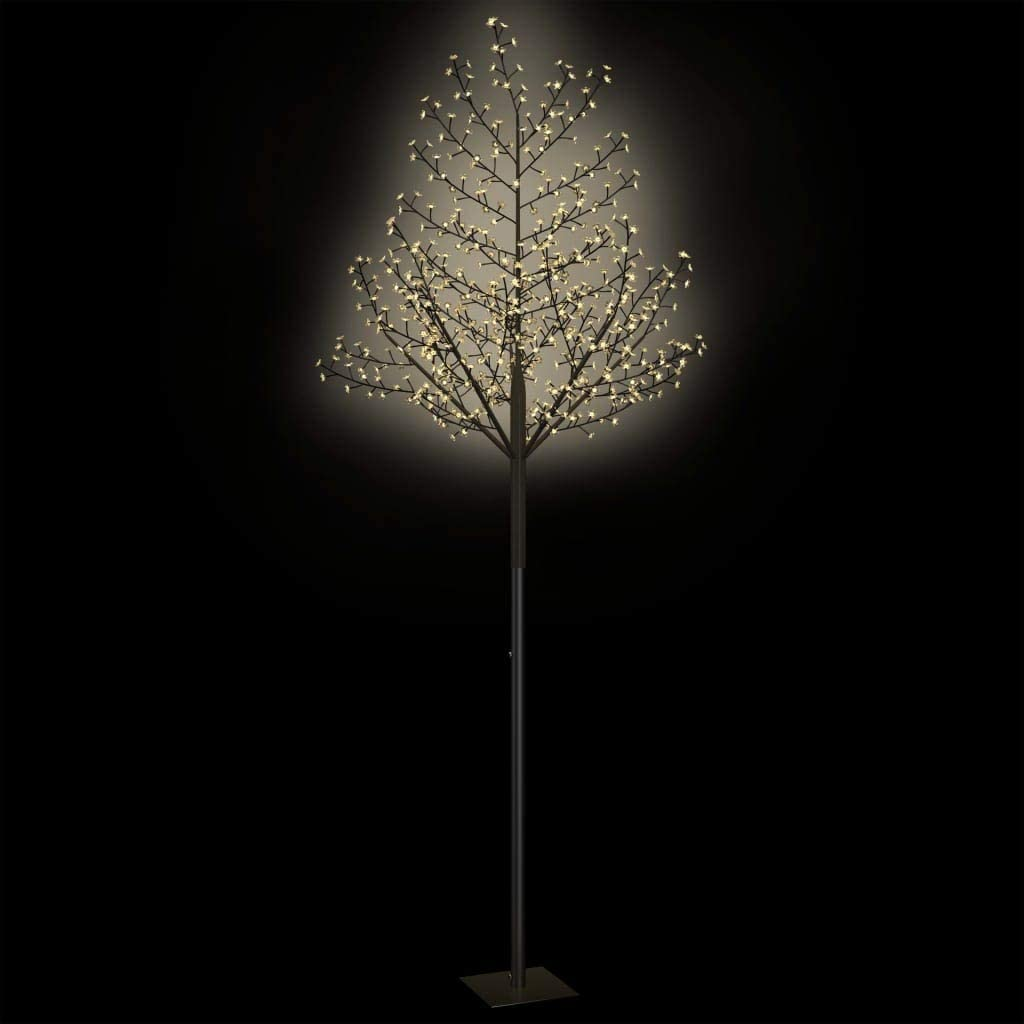 honorall Weihnachtsbaum 200 LEDs Blau-Wei/ßes Licht Kirschbl/ütenTannenbaum Weihnachtsdeko Innen /& Au/ßen Leuchtbaum Weihnachtsdeko 180 cm